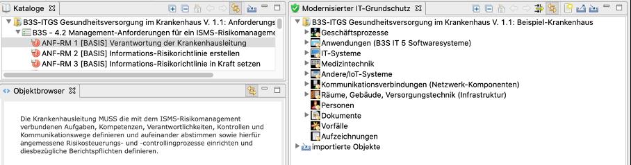B3S für IT-Grundschutz: Views (Fenster)