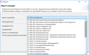 Figure 8. Context for report templates