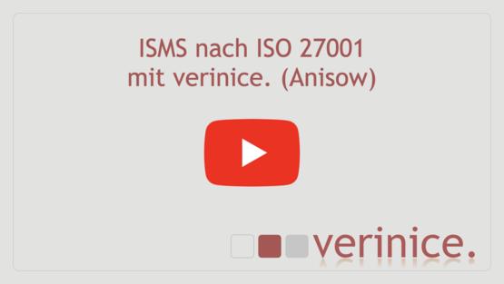 "Video ""ISO 27001 mit verinice Anisow"" abspielen"