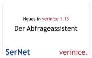 Der neue verinice-Abfrageassistent