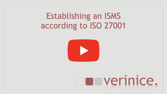"""Play video """"Establishing an ISMS according to ISO 27001"""""""