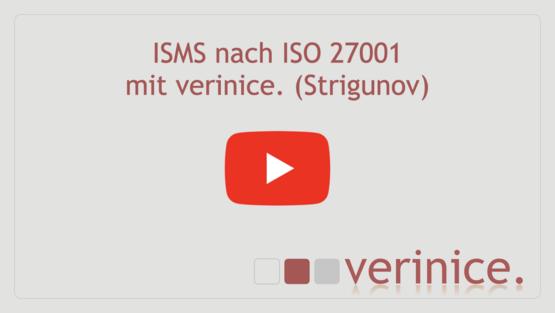 """Video """"ISO 27001 mit verinice Strigunov"""" abspielen"""