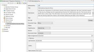 verinice 1.21: Target Object Document